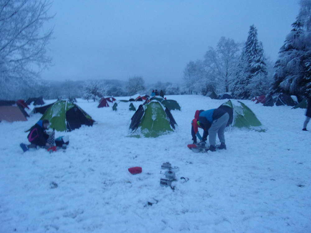 A very wintry camp